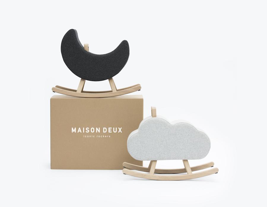 6 brilliant kids designs on show at Maison Objet 2018 - Maison Deux: Rocking Moon and Cloud - Ph. by Maison Deux.