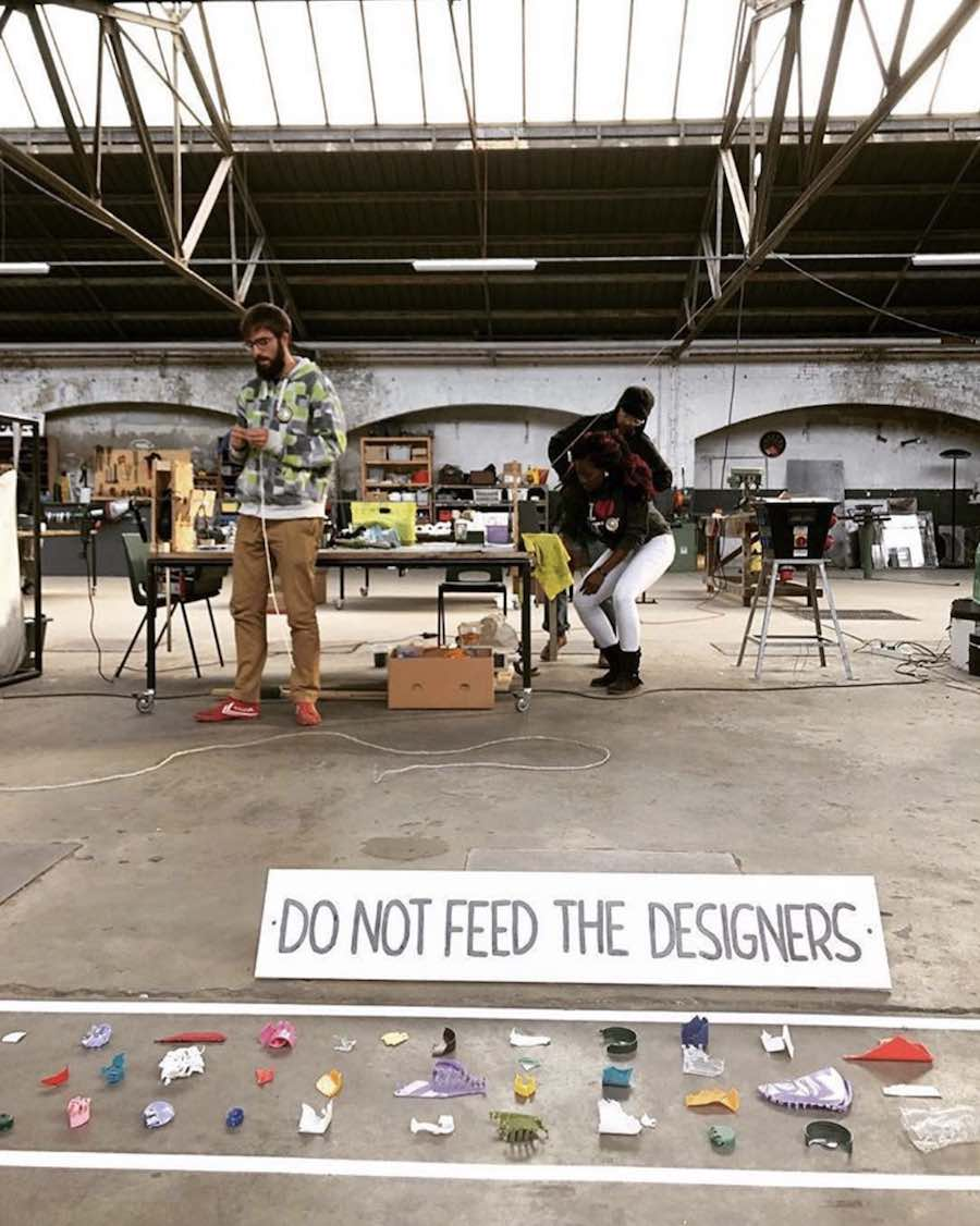'Do not Feed the Designers': @realspecialplastic at VDMA - Photo via IG follow @dutchdesignweek.