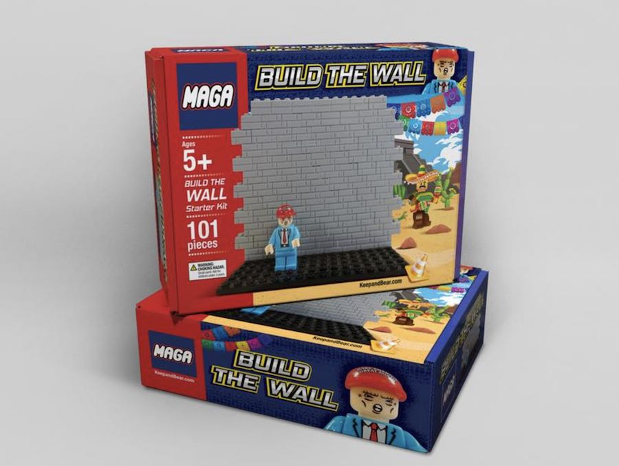 BUILD THE WALL Lego style-kit by Keep and Bear.