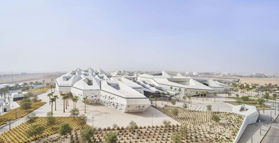 King Abdullah Petroleum Studies and Research Centre (KAPSARC) By Zaha Hadid Architects @ Riyadh, Saudi Arabia. © Hufton + Crow.