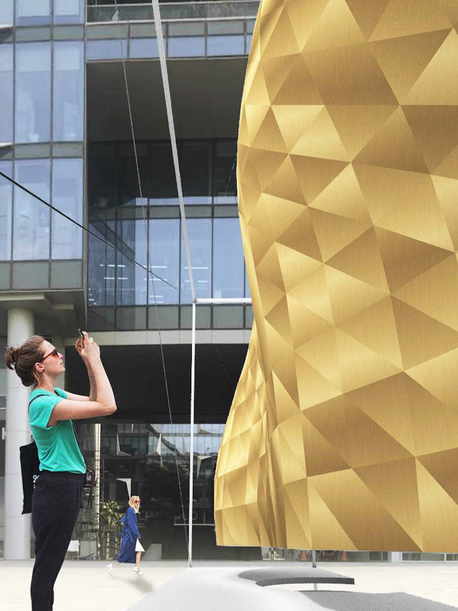 Parametric Surfaces Outside - Courtesy of Dubai Design Week 2018.