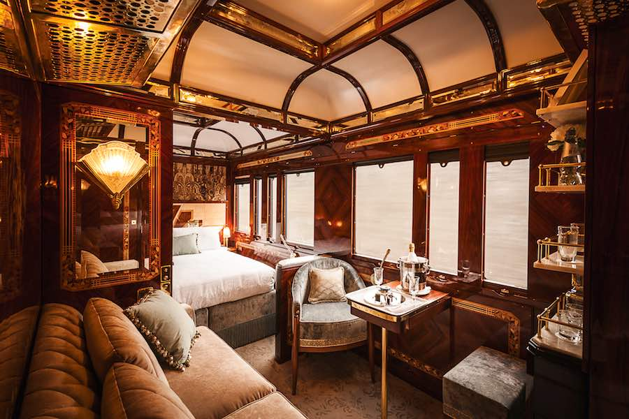 Luxury suite at Belmond Venice Simplon-Orient-Express by Wimberly Interiors - Courtesy of WAF2018.