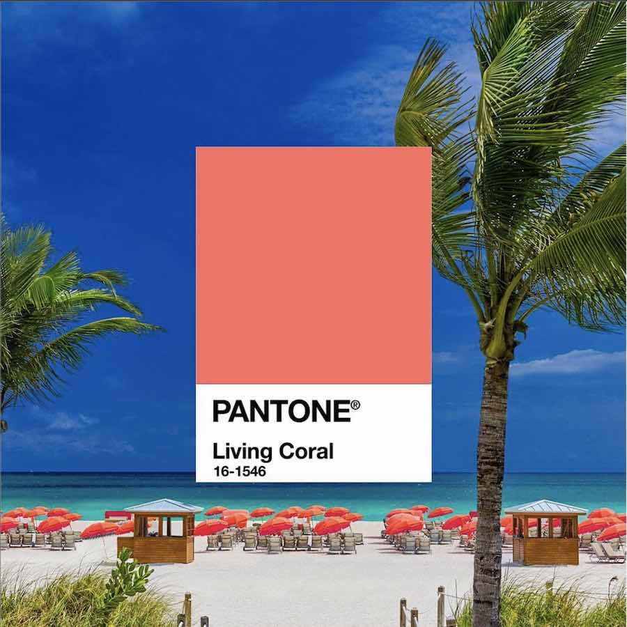 Living Coral - Photo via IG, follow @pantone.