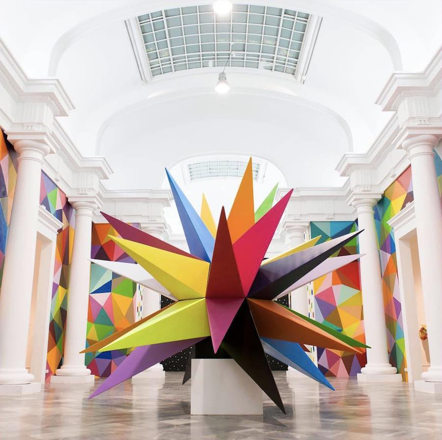 'Kaos Star' by Okuda San Miguel - Courtesy of Scope Art Fair