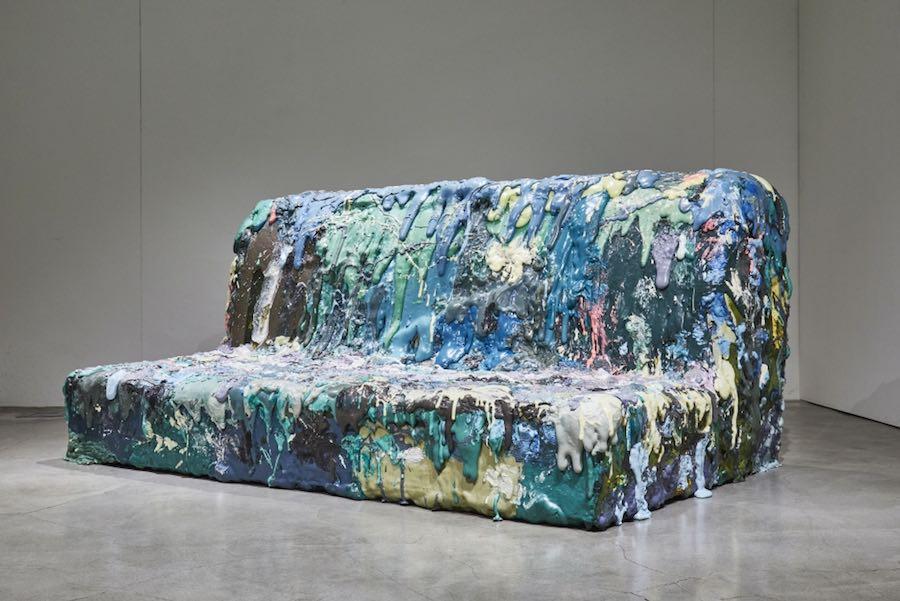 Sang Hoon Kim's memory-foam sofa - Courtesy of Cristina Grajales Gallery