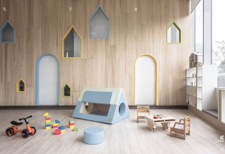 Desaturated playroom