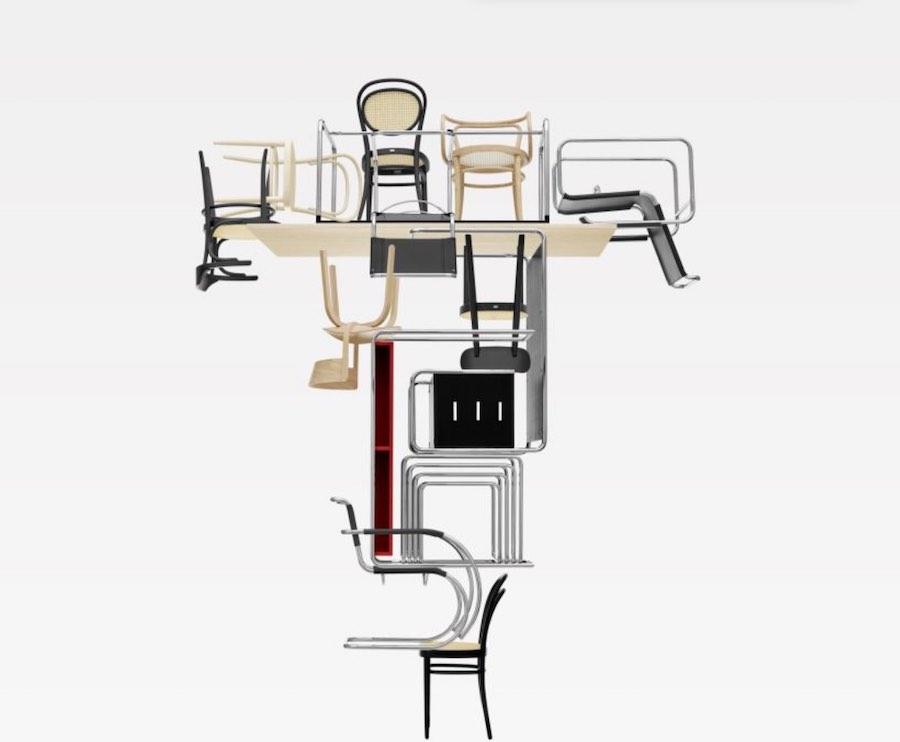 Bauhaus reloaded. image via IG; follow @thonet_gmbh.