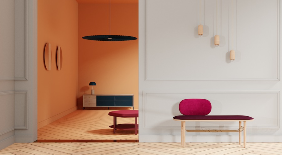 Assaeyez vous... In Paris! Eustache bench by Margaux Keller for Hartô - Photo by Hartô.