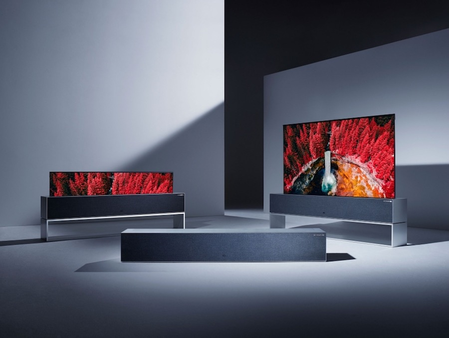 LG rollable OLED TV - Photo courtesy of LG.