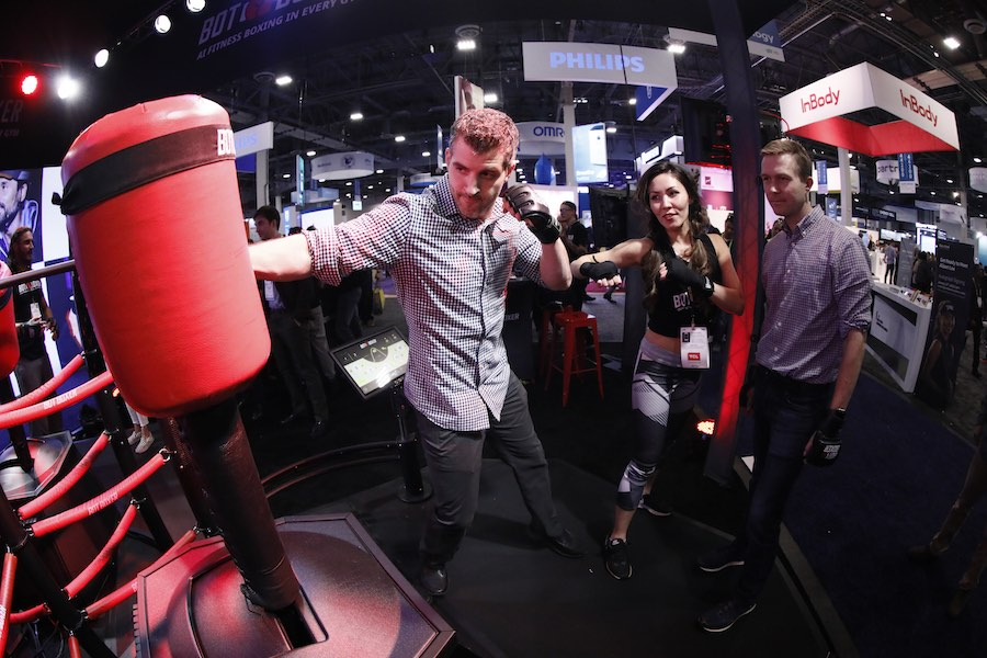 Pinterest CES2019. Sports-tech exhibit - Courtesy of CES.