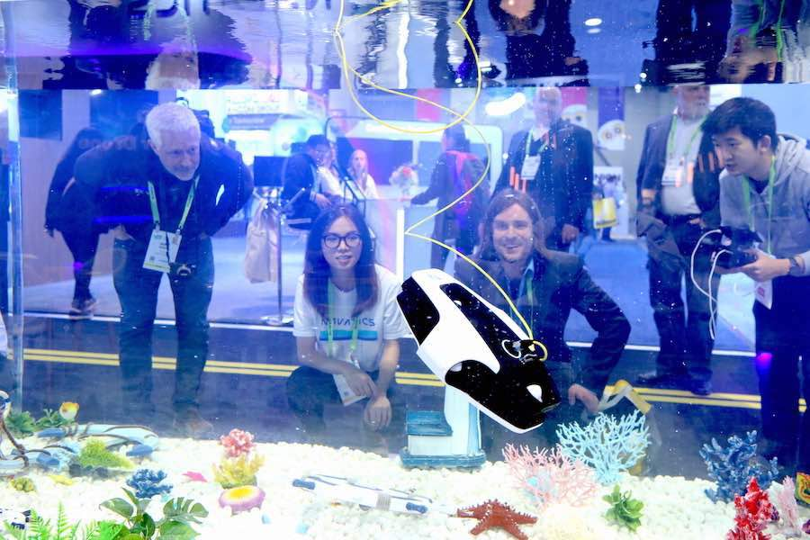 Pinterest CES2019. Underwater tank drone - Courtesy of CES.