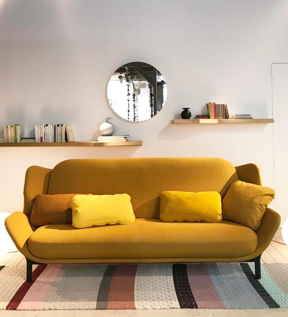 Clam sofa-bed by Leo Dubreil and Baptiste Pilato - Photo via Instagram follow @ligneroset.