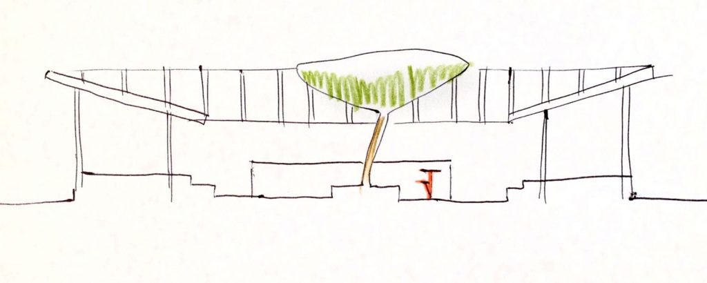 Sketch of Anderssen & Voll Design Bar - Image by Begränsad.