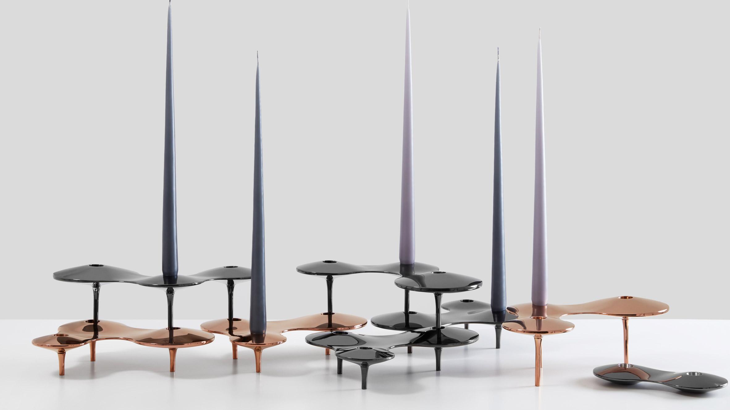 Zaha Hadid Design CELL candle holders - Photo by Zaha Hadid Design
