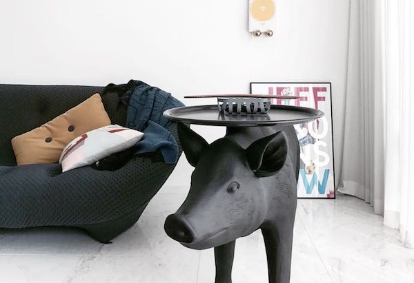 Year of the Pig 2019 - Pig table by Front for moooi - Photo via Instagram: Follow @_Hi_Haru_