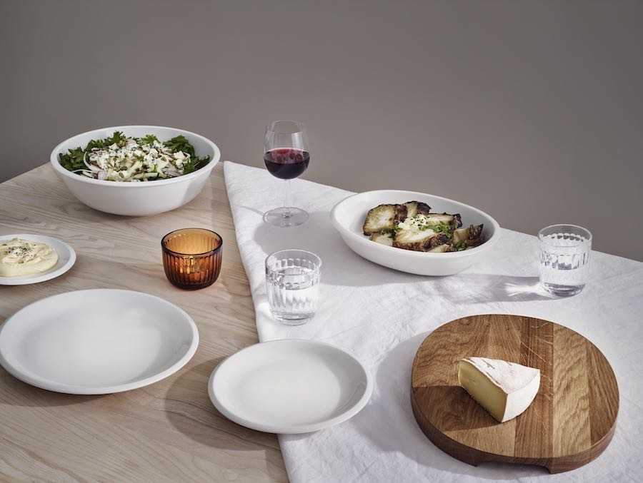 Raami tableware collectin by Jasper Morrison for Ittala