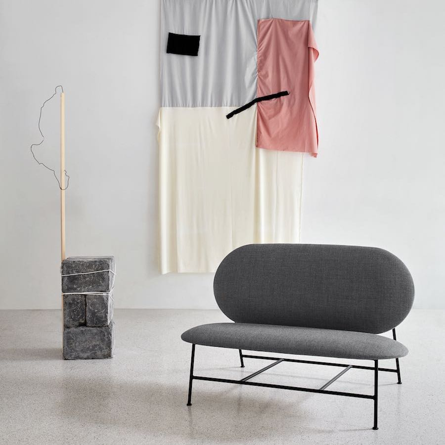 Nordic Rounded shapes reing in Northern's new design collection. Oblong sofa by Mario Tsai - Photo by Chris Tonnesen, courtesy of Northern,