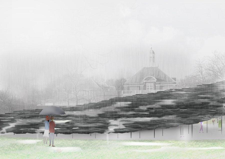 Serpentine Pavilion 2019: Design Render, Exterior View - © Junya Ishigami + Associates.