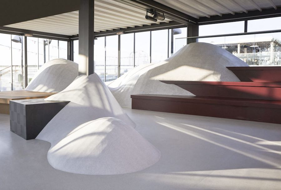 SNOWTOPPED installation by Note Design Studio for Tarkett - Photo: courtesy of Tarkett.