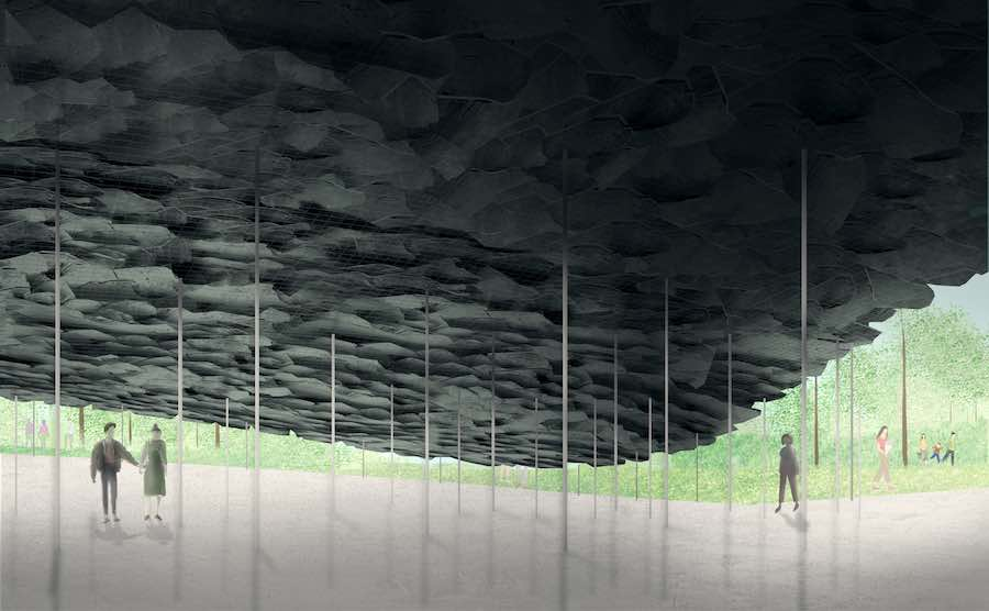 Serpentine Pavilion 2019: Design Render, Interior View - © Junya Ishigami + Associates.