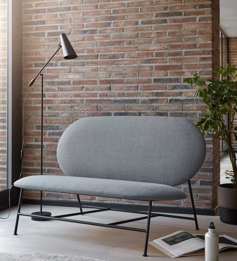 Nordic Rounded shapes reing in Northern's new design collection. Oblong sofa by Mario Tsai - All photos by Chris Tonnesen, courtesy of Northern,