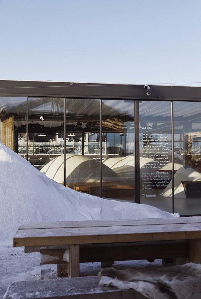 SNOWTOPPED installation by Note Design Studio for Tarkett - Photo: courtesy of Tarkett.