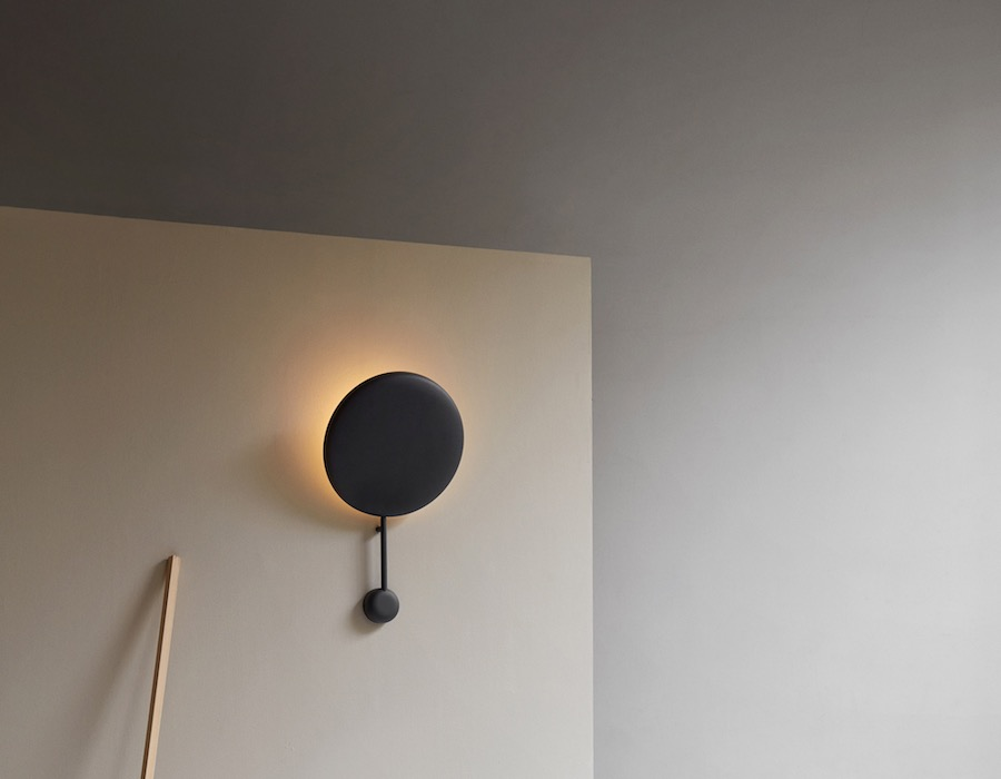 Ink black wall lamp by Felix Isidorsson - Photo by Chris Tonnesen, courtesy of Northern.