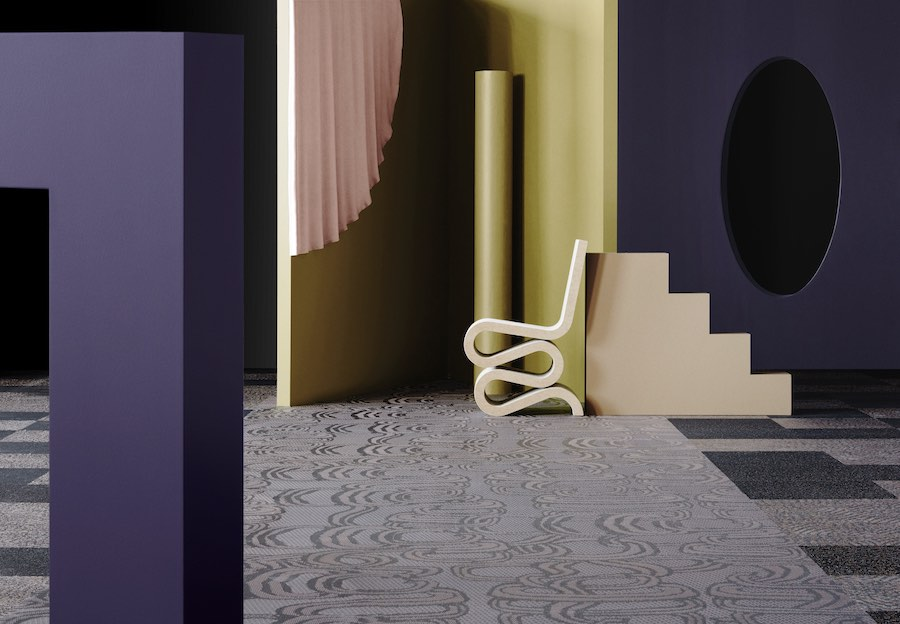 Bolon's DIVERSITY collection: Bling Garnet - All photos by Bolon.