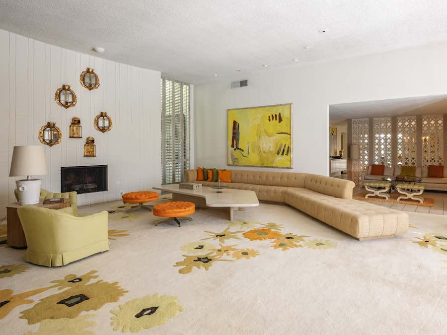 Elrod Escape Living Room -  courtesy of Modernism Week.