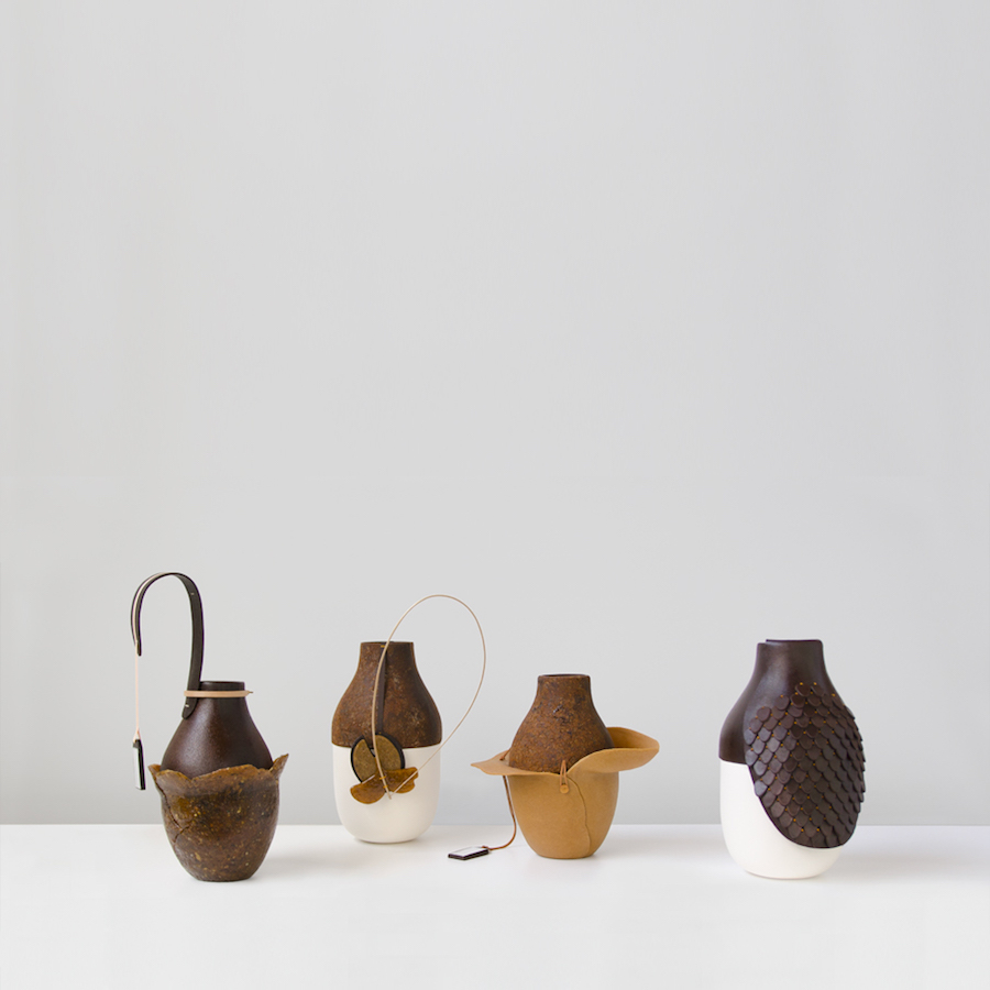 Handcrafted bioplastic vases by Formafantasma for Giustini Stagetti - Curtest of Formafantasma.