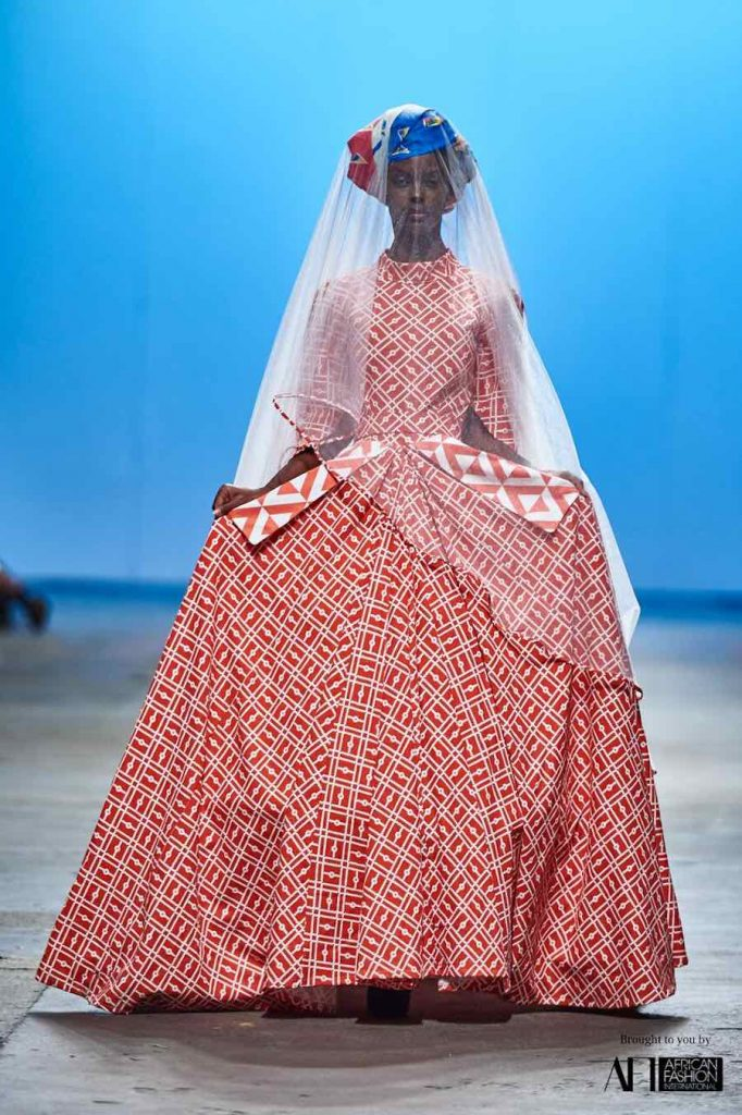 Design Indaba competition 2019: Mzukis Mbane's bridal dress - Courtesy of Design Indaba.