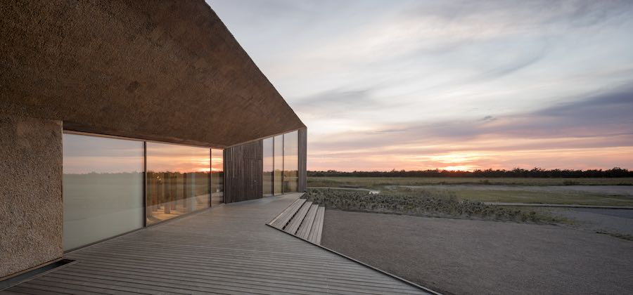 IRREPLACEABLE LANDSCAPES exhibition @ DAC. Dorte Mandrup's Wadden Sea Centre in Denmark - Photo by Adam Mørk.