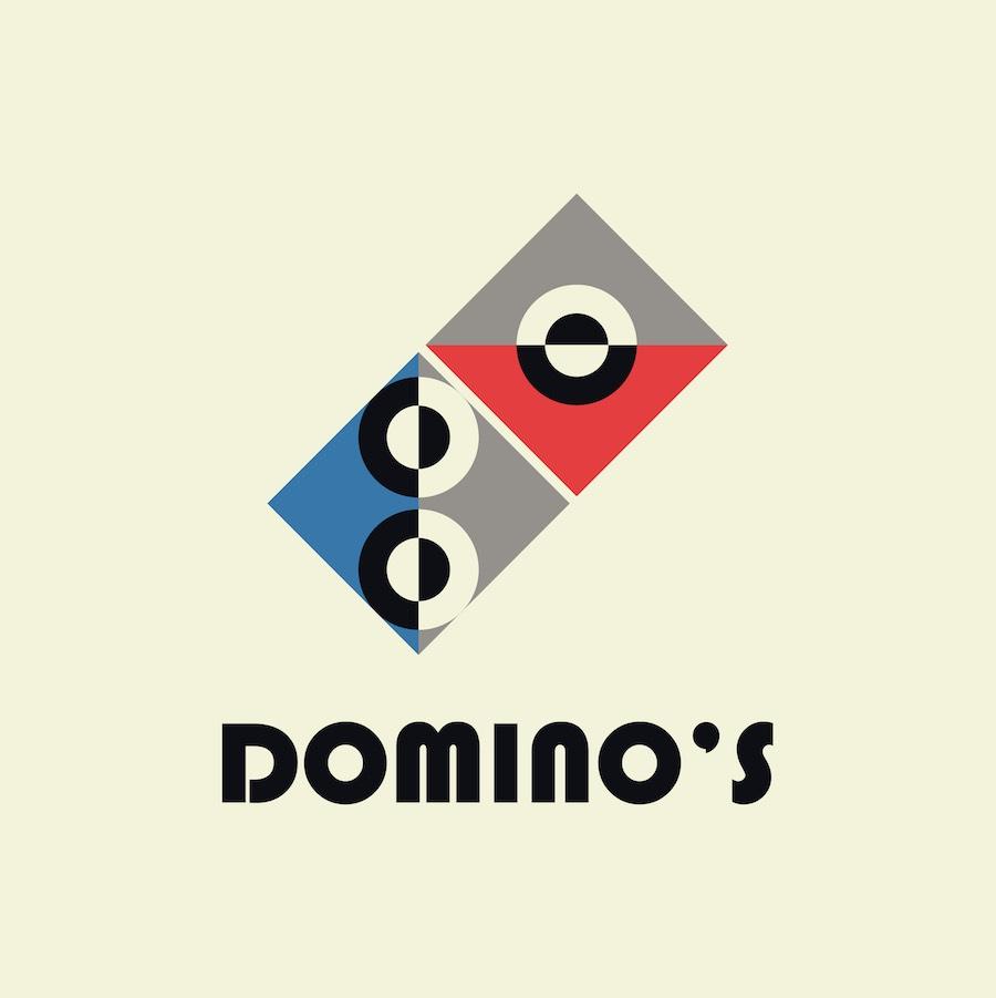 DOMINO'S PIZZA''s Bauhaus logo by ArsDesigns - ENRIQUE ARREDONDO.