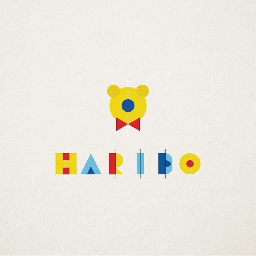 HARIBO's Bauhaus logo by SenseDesign.