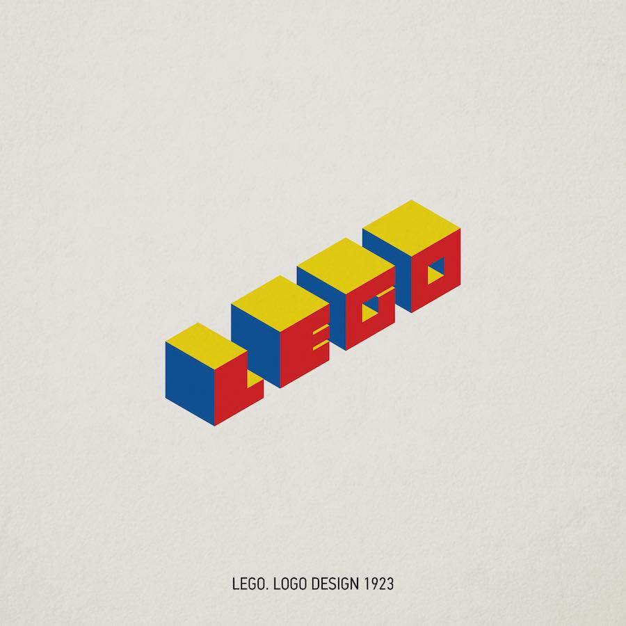 Bauhaus makeover - LEGO logo by SenseDesign.