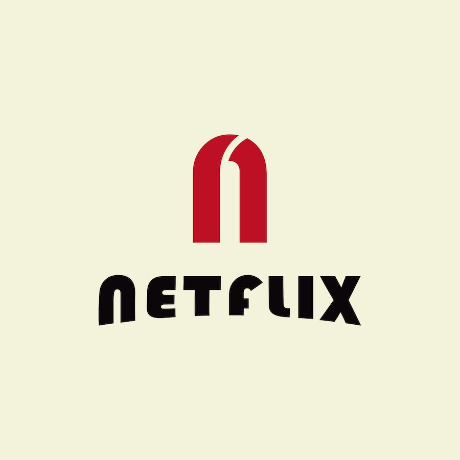 Bauhaus makeover - NETFLIX logo by  ArsDesign ENRIQUE ARREDONDO.