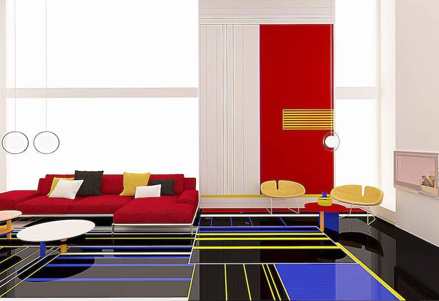 Mondrian-inspired apartment