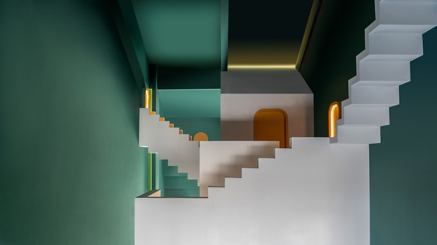 Dream &Maze guest room. MC Escher-inspired spaces. All photos by Chao Zhang.