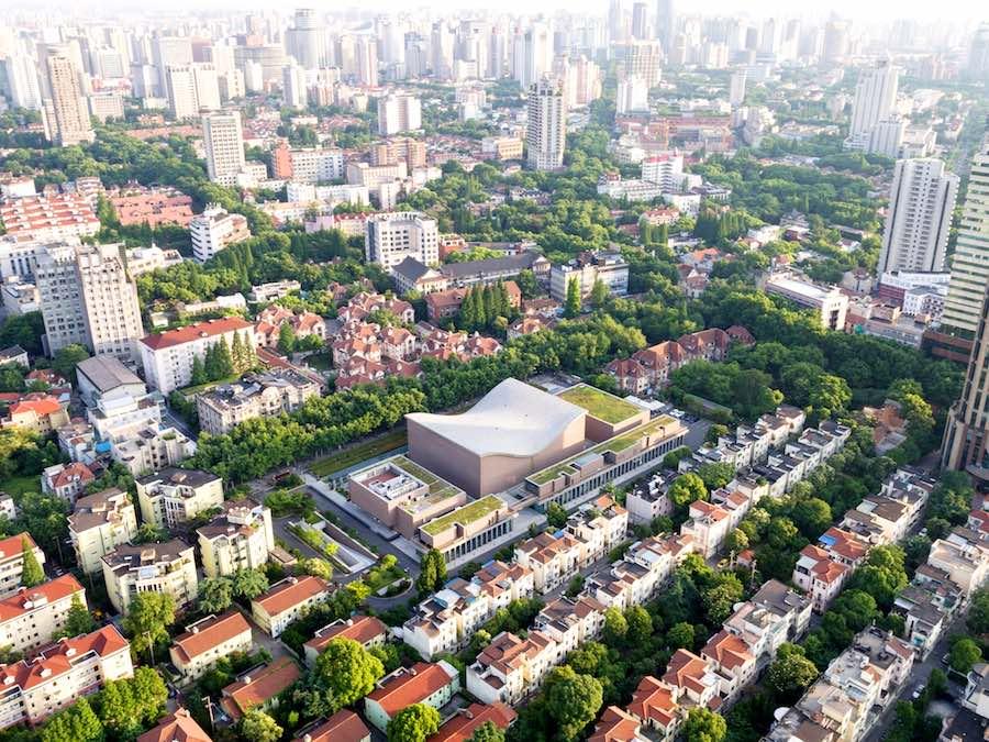 Aratas Isozaki. Shanghai Symphony Hall -  Photo courtesy of Chen Hao.