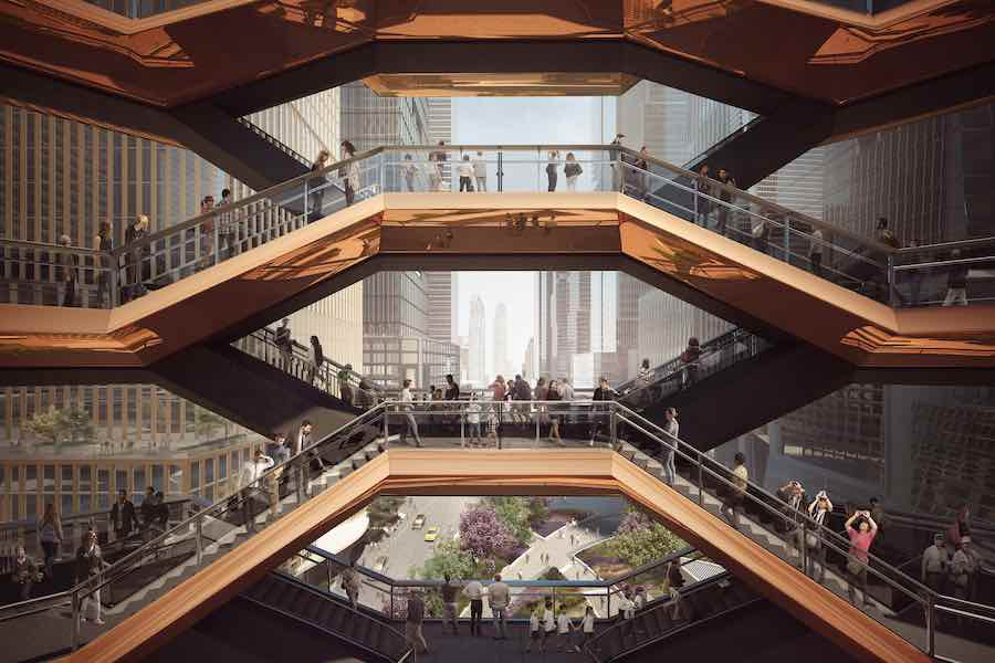NYC Hudson Yards. Vessel Interior by Thomas Heaterwick Studio - Photo by Michael Moran for Related-Oxford.