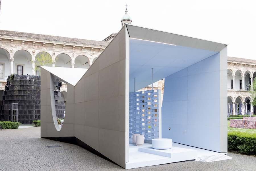 BLUE PASSAGE pavilion by Parisotto+Formenton Architetti for CIMENTO® - Photo by Saverio Lombardi Vallauri