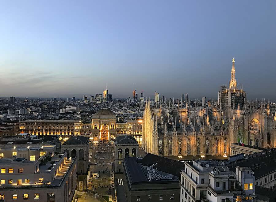 Milan Design Week Guide for Dummies - The city's skyline from Terrazza Martini - Photo by Miquel Fabre.