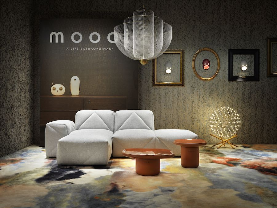 Moooi's 2019 Milanese exhibition - Photo by Moooi.