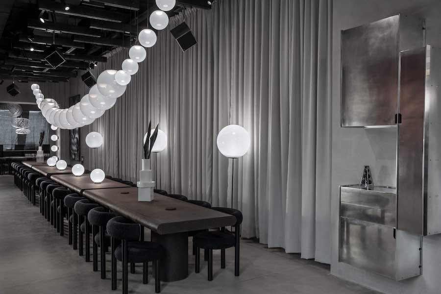 THE MANZONI restaurant and showroom by Tom Dixon in Milan - Photo by Tom Dixon.