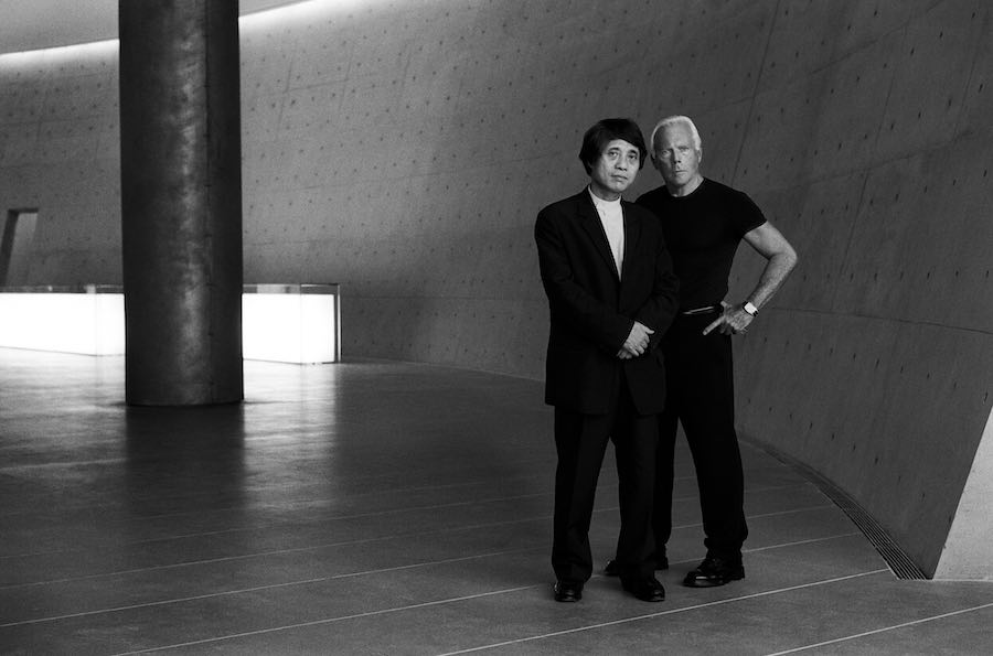 Giorgio Armani and Tadao Ando - Photo by Roger Hutchings, courtesy of Giorgio Armani.