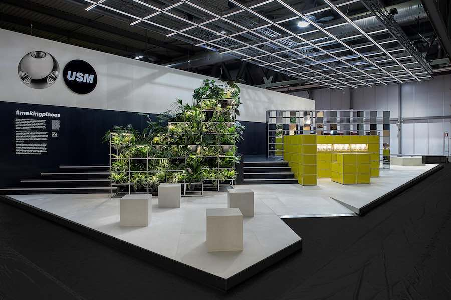 THE CONTEMPORARY WORKSPACE - MAKING PLACES exhibition by UNStudio for USM at Salone del Mobile.Milano 2019 - Photo by UNStudio.