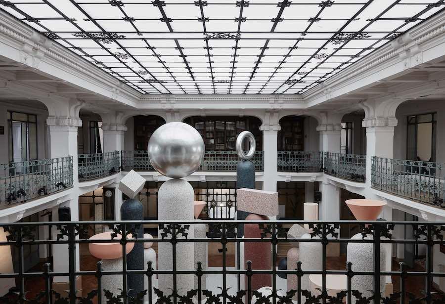 FORMATION installation by Note Design Studio for Tarket @ Milan Design Week 2019