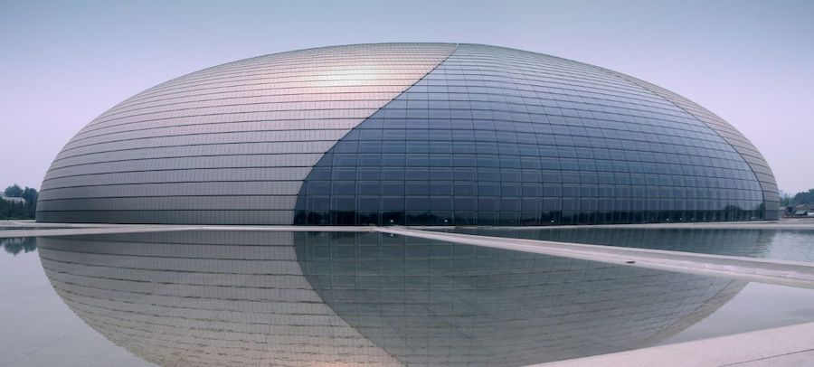 National Grand Theatre in Beijing - Photo by Hui Lan