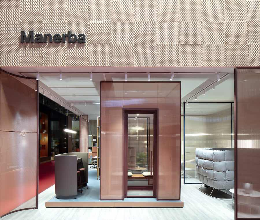 THE CONTEMPORARY WORKSPACE - Manerba booth at WORKSPACE 3.0, Salone del Mobile.Milano 2019 - Photo by Manerba.