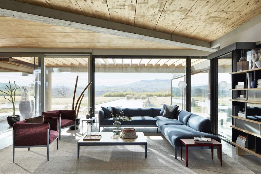 CASSINA Cotone Sofa and Armchair by Ronan & Erwan Bouroullec - photo by DePasquale+Maffini